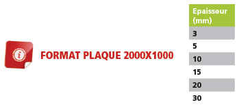 plaque mousse epdm information