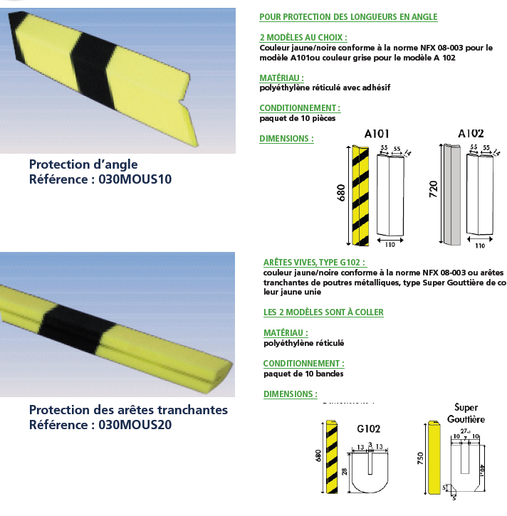 Protection d angle protection des ar tes tranchantes for Protection angle mur